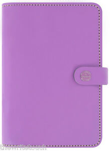 The Filofax Original Organizer Personal Lilac Leather Made In Uk 2018 Diary