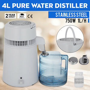 4l Water Distiller Temperature Controlled Stainless Steel Dental Filer 1 Gallons