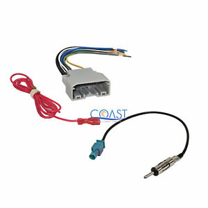 Car Stereo Wiring Harness With Antenna For Chrysler Dodge Jeep Vw 2007 2011
