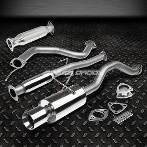 4 Rolled Muffler Tip Racing Catback Exhaust Pipe For 92 00 Civic 2dr 4dr Ej Eg