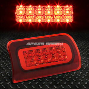 For 94 03 Chevy S10 Gmc Sonoma 2 Row Led Third 3rd Tail Brake Light Lamp Red