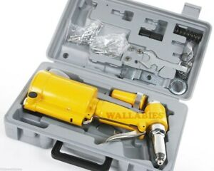 New Pneumatic Air Hydraulic Pop Rivet Gun Riveter Riveting Tool W carrying Case