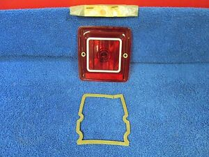 1966 Amc Rambler Wagon Rh Tail Brake Light Lens Nos Amc 116