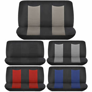 Speed Racing Van Back Row Bench Seat Cover Polyester Universal 2pc
