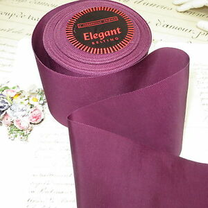 3y Vtg 4 Plum Wine Ribbon Petersham Grosgrain Antique Milliner Hat Trim Cocarde