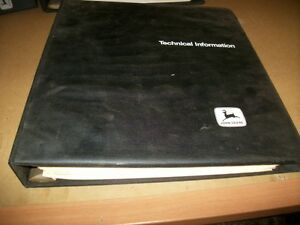 John Deere 55ev 65ev Chainsaw Dealer Technical Manual Binder vintage Chainsaw