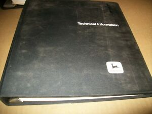 John Deere 35ev Chainsaw Technical Manual Binder vintage Chainsaw
