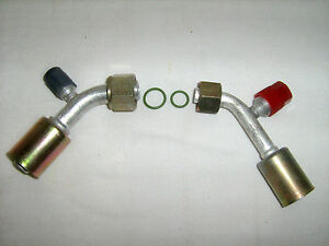 Ac Fittings Beadlock A C Female O Ring 45 Degree 8 10 W R134a Service Ports