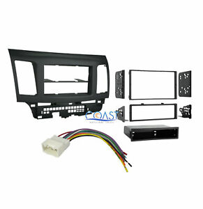 Car Stereo Single Double Din Dash Kit Harness For 2007 2013 Mitsubishi Lancer