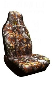 King s Camo Woodland Shadow Camouflage Seat Cover Universal Bucket One Cover