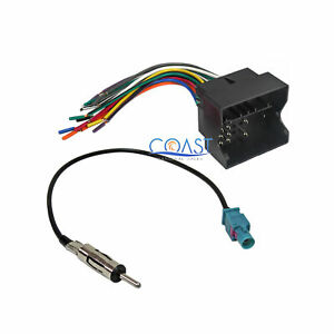 Car Stereo Radio Wire Harness Antenna Combo For 2005 2010 Bmw Cooper Volkswagon