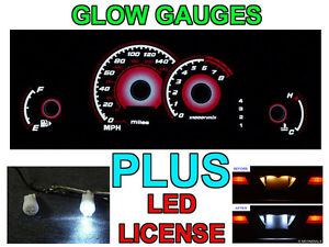 Red Glow Gauge Face Led License Bulbs For 2000 2005 Mitsubishi Eclipse Auto At