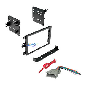 Car Radio Stereo Double Din Dash Kit Wiring Harness For 1992 Up Gm Chevy Isuzu