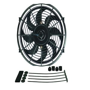 Derale 18912 Dyno Cool 12 Curved Blade Electric Fan