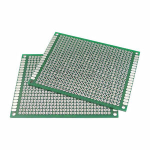 10pcs Double Side Protoboard Circuit Universal Diy Prototype Pcb Board 6cmx8cm