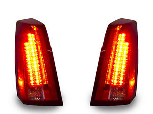Depo 08 Style Led Light Bar Red Tail Light Set For 2003 2007 Cadillac Cts Cts V