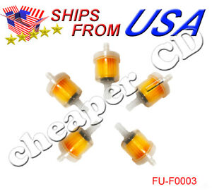 5 Pack Fuel Gas Filter Universal Motorcycle Atv Mini Small Engine Inline Carb