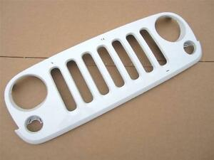 2007 2015 Oem Jeep Wrangler Front Grille Grill Factory Painted Bright White Used