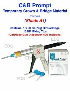 Shade A1 C b Prompt Temporary Crown And Bridge Material Hp Cartridge 15 Tips