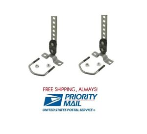 2 Pc Universal Tailpipe Hanger 360 Swivel 1 1 2 To 2 1 2 Exhaust Tail Pipe