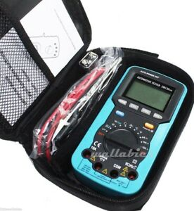 New Lcd Auto Range Digital Multimeter Buzz Ac Dc Volt Amp Ohm Temp Tester