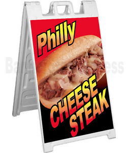 Signicade A frame Sign Sidewalk Sandwich Pavement Sign Philly Cheese Steak
