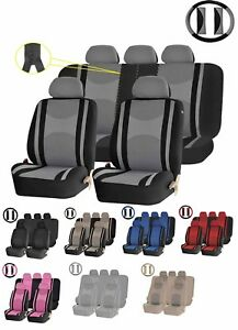 22pc Premium Mesh Steering Wheel Seat Covers 40 50 60 Split Bench Cover For Cars