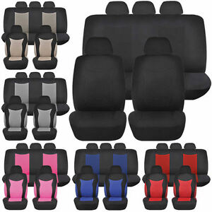 Speed Racing Low Back Front Car Seats Bench Back Row Covers Polyester
