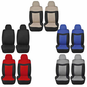 Elegant2 4pc Low Back Front Car Seat Covers Polyester Universal