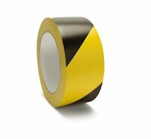 16 Rolls Floor Marking Tape Pvc Safety Tapes Black Yellow 3 X 36 Yards