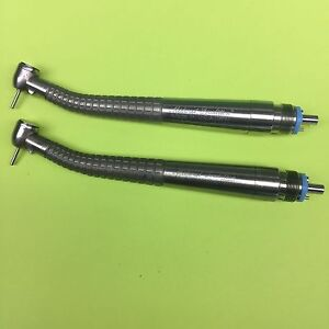 Dental Handpiece midwest Tradition Push Button Lot Of 2 Fiber Optic