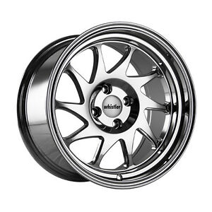 16x9 Whistler Rims Kr7 4x100 15 Chrome Wheels Set Of 4