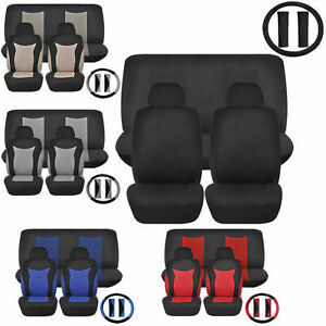 Combo Speed Racing Low Back Front Truck Seats Bench Covers Polyester