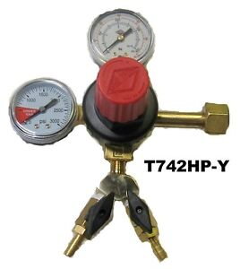 Co2 Regulator With Y dual Gauge Draft Beer Tap Kegerator beer T742 Hp y