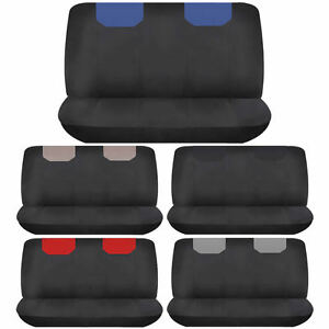 Elegant Suv 2pcs Back Row Bench Seat Cover Polyester Universal