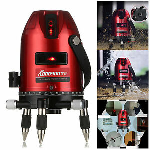 Hot Sale Red Automatic Self Leveling 5 Line 6 Point 4v1h Laser Level Measure
