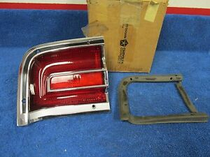 1967 Plymouth Fury Wagon Lh Outer Tail Light Assembly Nos Mopar 216
