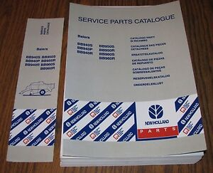 New Holland Bb940 Bb950 Bb960 Hay Baler Parts Catalog Manual Issued 2001 New