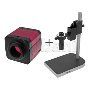 New Digital Microscope Camera Body With Stand And Lens 14mp Pink C mount Hdmi