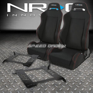 Nrg 2 Type R Red Stitches Racing Seats Bracket For 00 05 Toyota Celica T230 231