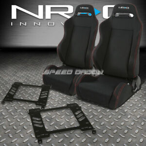 Nrg 2 Type r Red Stitches Racing Seats bracket For 94 01 Acura Integra Db Dc1 2