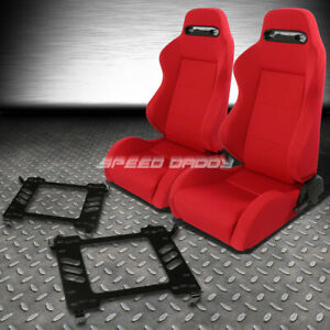 Pair Type r Red Reclinable Racing Seats bracket For 06 11 Honda Civic Fa fg1 fg2