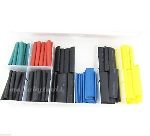 120pc Heat Shrink Wire Wrap Assortment Set Tubing Electrical Color Code Cable