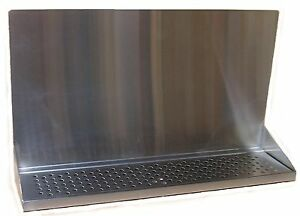 Draft Beer Tower Wall Mt Drip Tray 24 Long W S s Grill Drain Dtwm24ss