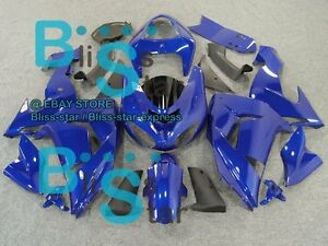Blue Gloss Injection Fairing Bodywork Plastic Set Kawasaki Zx10r 2006 2007 34 Cc