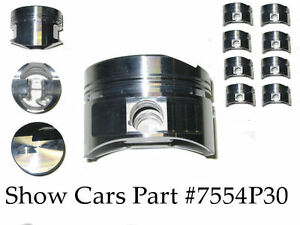 64 63 62 409 Chevrolet Impala Bel Air Ross 4 Stroker Pistons Over Bore Of 030