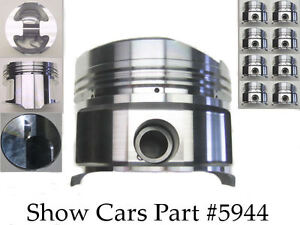 409 Chevy Chevrolet Impala Bel Air Forged Ross 4 342 030 Over Bore 10 5 Pistons