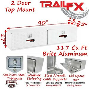 170901 Trailfx 90 Polished Aluminum Top Mount Truck Tool Box
