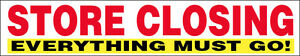 3x20 Ft Store Closing Vinyl Banner Out Of Business Everything Must Go Sign