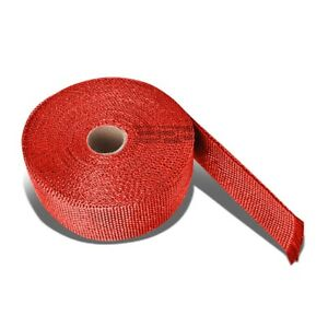 25 Feet 2 Motor Cycle Header Exhaust Turbo Intake Manifold Heat Wrap Roll Red